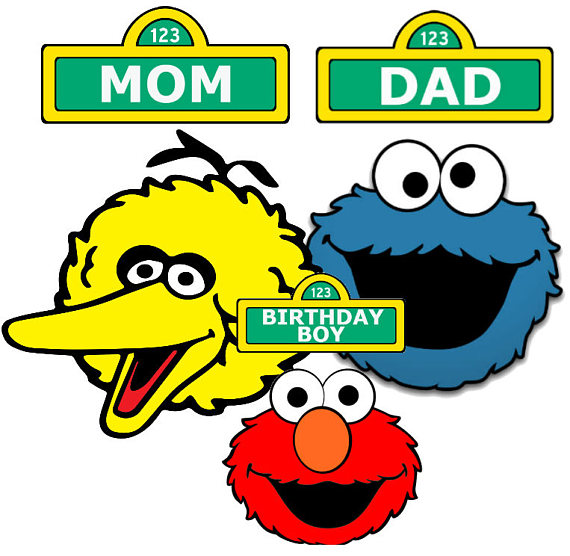 INSTANT DOWNLOAD Sesame Street Iron On Transfer Personalized Custom Birthday Boy Mom Dad Transfers