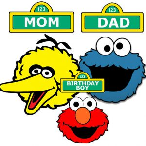 INSTANT DOWNLOAD Sesame Street Iron on Transfer personalized custom Birthday Boy ,Mom, Dad iron on transfers